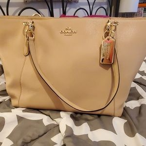 Lightly Used Authentic Beige Coach Purse